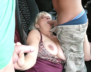 Hot Moms MMF Porn Pictures
